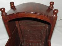 Georgian Scrumbled Pine Cradle (7 of 7)