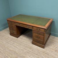 Superb Quality Large Edwardian Walnut Antique Office Desk (5 of 7)