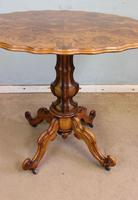 Antique Burr Walnut Shaped Occasional Table (3 of 9)
