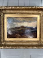 Antique Large Impressionist Landscape Oil Painting in Opulent Frame (3 of 10)