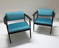 Pair of Italian Mid Century Ebonised Armchairs (3 of 7)