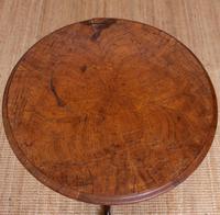 Georgian Walnut Oak Tripod Lamp Table (7 of 10)