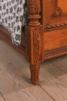 Impressive and beautiful large king size carved walnut bed & matching bedsides (3 of 13)