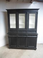 Reclaimed Pine Painted Black / White 6 Door 6 Drawer Kitchen Dresser / Bookcase (4 of 9)
