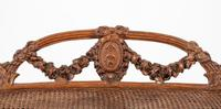 Pretty Pine Carved French Stool (4 of 8)
