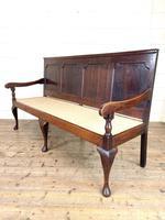 Antique George III Oak Settle Bench (9 of 10)