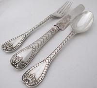 Wonderful quality pristine Victorian silver boxed Christening set George Adams London 1857 (9 of 12)