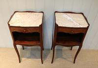 Pair of French Mahogany Inlaid Bedside Cabinets (4 of 10)