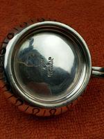 Antique Sterling Silver Hallmarked Heavy Mustard Pot 1924, Oldfield Ltd, Birmingham (3 of 10)