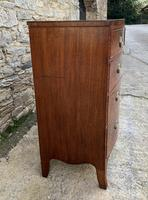 Regency Flame Mahogany Bow Front Chest of Drawers (5 of 17)