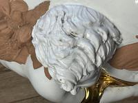 Beautiful Hollywood Regency Style Oversized Porcelain & Terracotta Cherub Floor Vase (23 of 52)