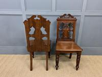 Good Pair of Victorian Walnut Hall Chairs (5 of 13)