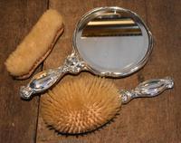 Fine Art Nouveau silver dressing table set (3 of 11)