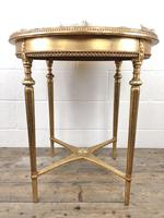 Gold Gilt Table with Circular Onyx Top (11 of 11)