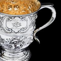 Georgian Solid Silver Loving Cup / Two Handled Cup - London 1748 (27 of 28)
