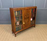Burr Walnut Bookcase/Side Cabinet (13 of 15)