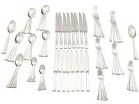 Sterling Silver Canteen of Cutlery for 8 Persons - Art Deco Style - Vintage 1956 (12 of 12)