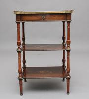 19th Century Mahogany & Inlaid Three Tier Etagere Table (8 of 11)