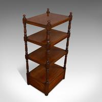 Antique Whatnot, English, Mahogany, Four Tier, Display Stand, Victorian c.1850 (9 of 12)