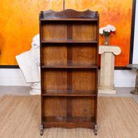 Carved Oak Open Bookcase Bookshelves (8 of 8)