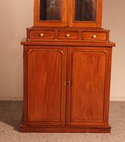 English 19th Century Glassed Bookcase In Light Mahogany (7 of 9)