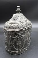 Very Good George III Period Oval Lead Tobacco Box (4 of 5)