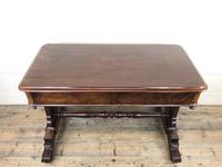 Antique William IV Mahogany Side Table (5 of 16)