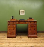 Antique Satin Birch Pedestal Desk by Heal & Sons (5 of 21)