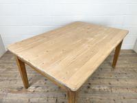 Victorian Pine Scrub Top Farmhouse Table (3 of 10)