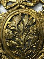 19th Century Antique Regency Gilt Bronze Coat of Arms Sunflower Acanthus Plaque (9 of 12)