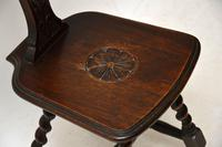 Antique  Victorian Welsh Oak Spinning Chair (7 of 9)
