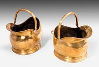 Pair of Late 19th Century Coal Helmets (3 of 3)