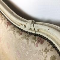 Antique French Full Corbeille King Size Bed Frame Curved Headboard & Footboard (5 of 13)