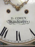 Fine English Longcase Clock D Cowed Manchester 8-day Striking Grandfather Clock Solid Mahogany Case (13 of 19)