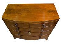 Regency Period Mahogany Bow-fronted Chest (7 of 7)
