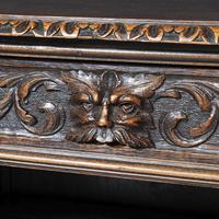 19th Century Flemish Carved Oak Open Breakfront Bookcase (2 of 9)