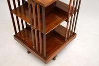 Antique Victorian Walnut Revolving Bookcase (10 of 10)