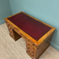 Quality Victorian Mahogany Antique Pedestal Desk (5 of 5)