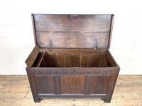 18th Century Antique Oak Panelled Coffer (7 of 12)