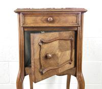 French Walnut & Marble Bedside Cupboard (7 of 15)