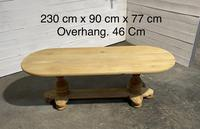 French Bleached Oak Monastery Dining Table (24 of 30)