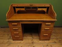 Antique Golden Oak Roll Top Writing Desk, Scandanavian A B Bobin & Mobelfabriken (14 of 15)