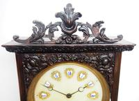 Rare Early Wall Clock Large Dial Rosewood 8 Day Striking Vienna Wall Clock (10 of 10)