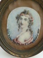 Artist Anthony Vandyke Copley Fielding Miniature of Alice Birket Foster (10 of 11)