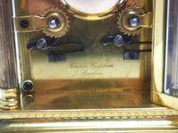 Fine French Repeat Carriage Clock with Foliate Carved Decoration By Charles Frodsham London (10 of 12)