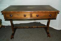 William IV Rosewood Writing Table / Library Table (4 of 6)