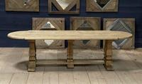 Huge French Bleached Oak Monastery Dining Table (3 of 30)