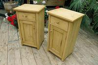 Nice Quality Old Stripped Pine Bedside Cabinets (3 of 9)