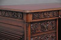 19th Century Carved Oak Partners Desk (13 of 17)