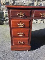 Antique Mahogany Pedestal Desk (2 of 12)